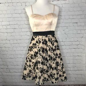 Minuet Cream Black Rosette Dress Sm Prom Wedding